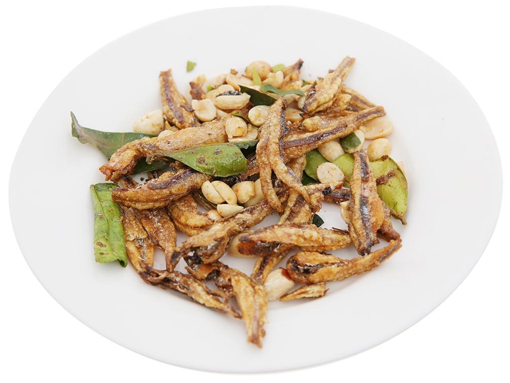 Cá cơm đậu phộng sấy lá chanh Mailey gói 30g 4