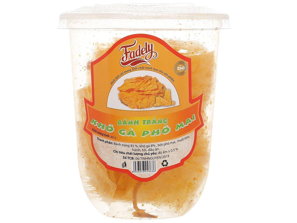Bánh tráng khô gà phô mai Fadely ly 40g 1