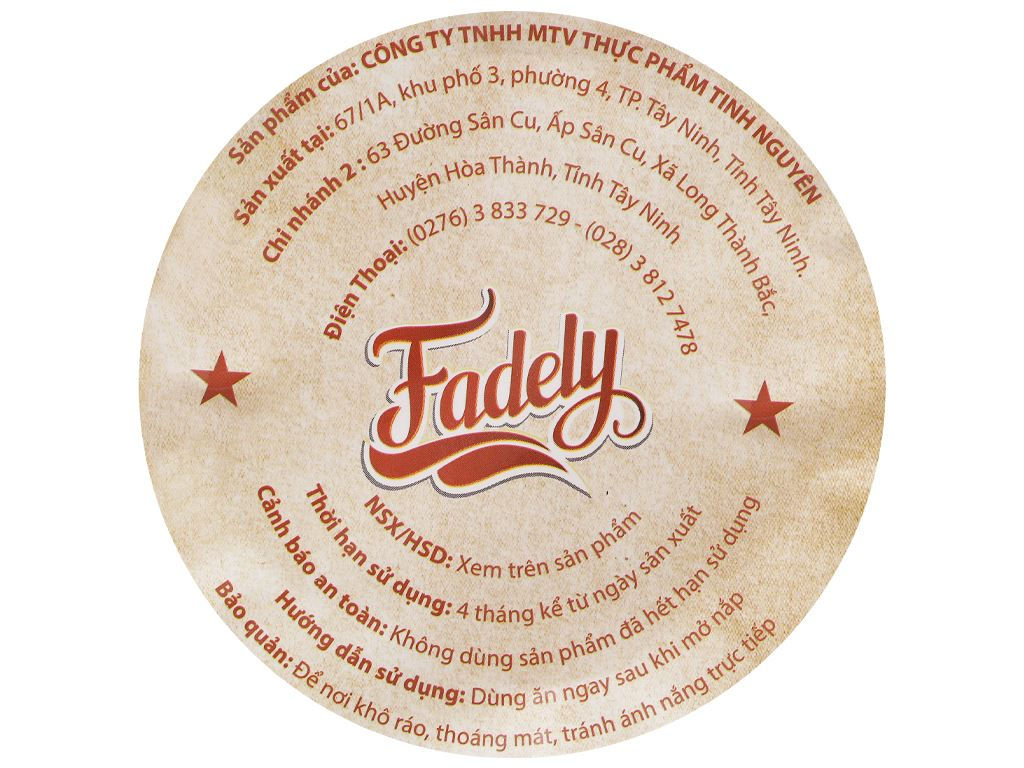 Bánh tráng khô gà phô mai Fadely ly 40g 3