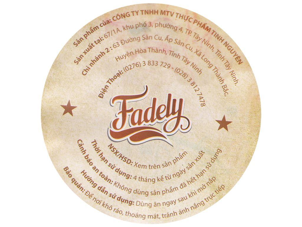 Bánh tráng tôm hành tỏi Fadely ly 32g 3