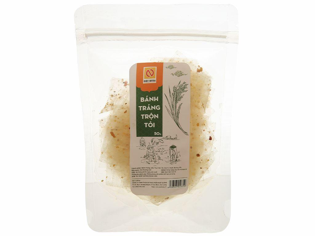 Bánh tráng trộn tỏi Nhật Quỳnh gói 50g 1