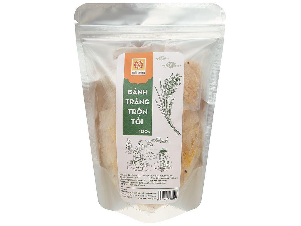 Bánh tráng trộn tỏi Nhật Quỳnh gói 100g 1