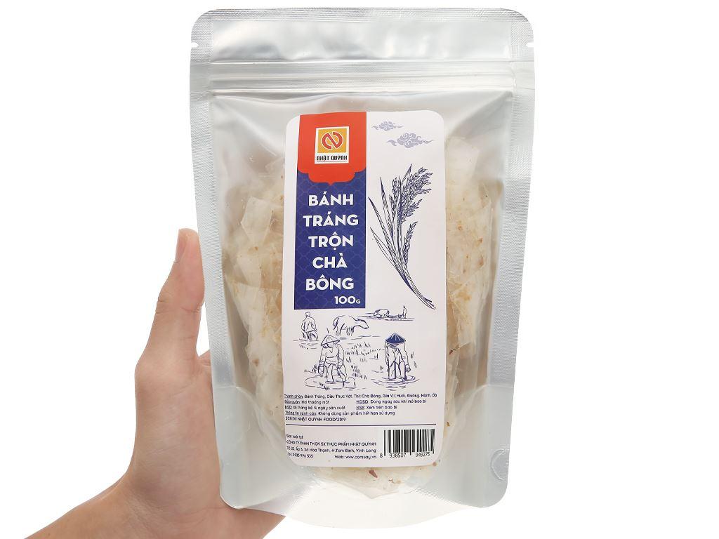 Bánh tráng trộn chà bông Nhật Quỳnh gói 100g 4