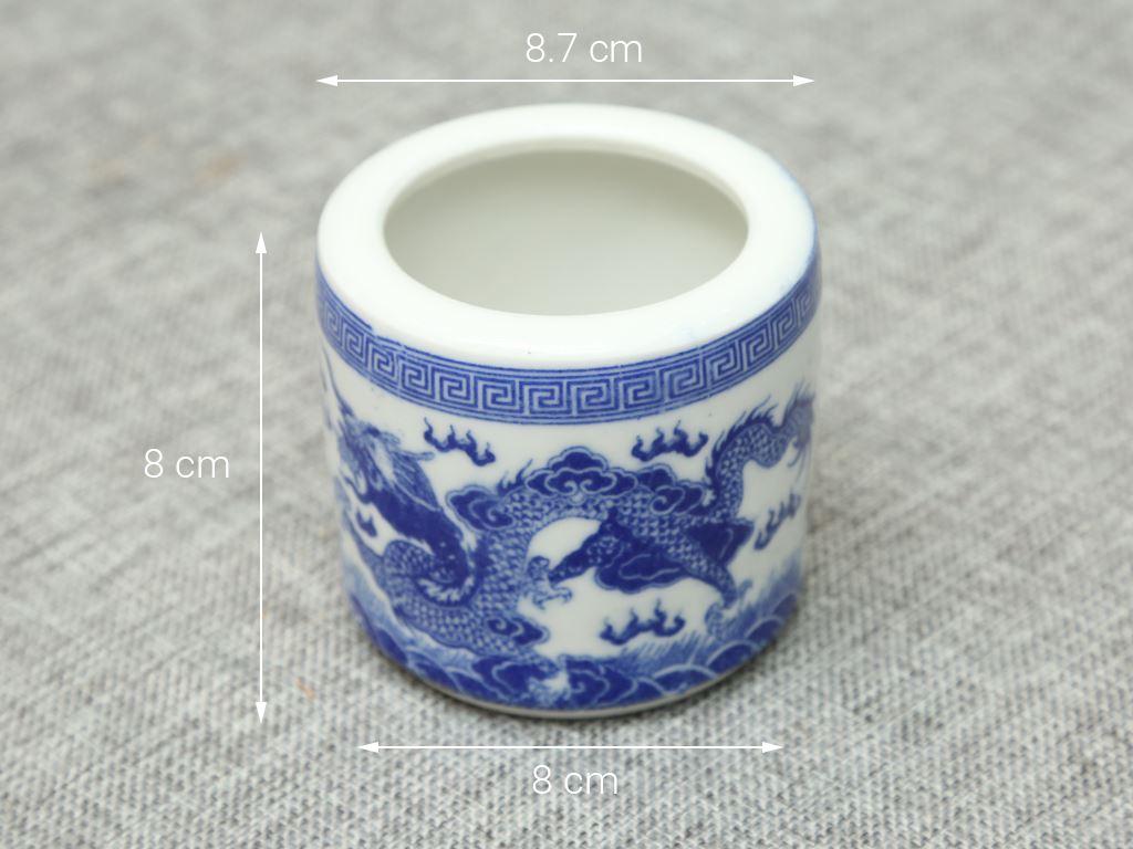 Lư hương sứ Bát Tràng 8cm 4
