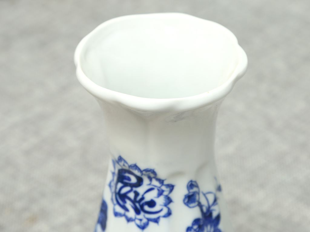 Lọ hoa sứ Bát Tràng 20cm 2