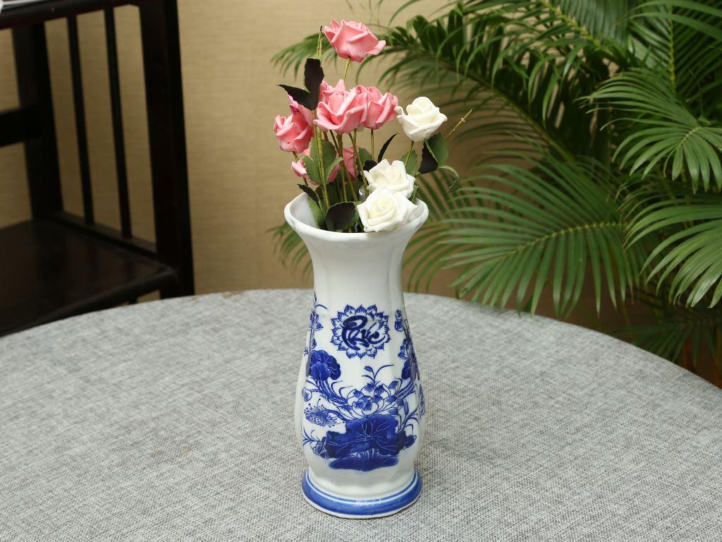 Lọ hoa sứ Bát Tràng 22cm 4