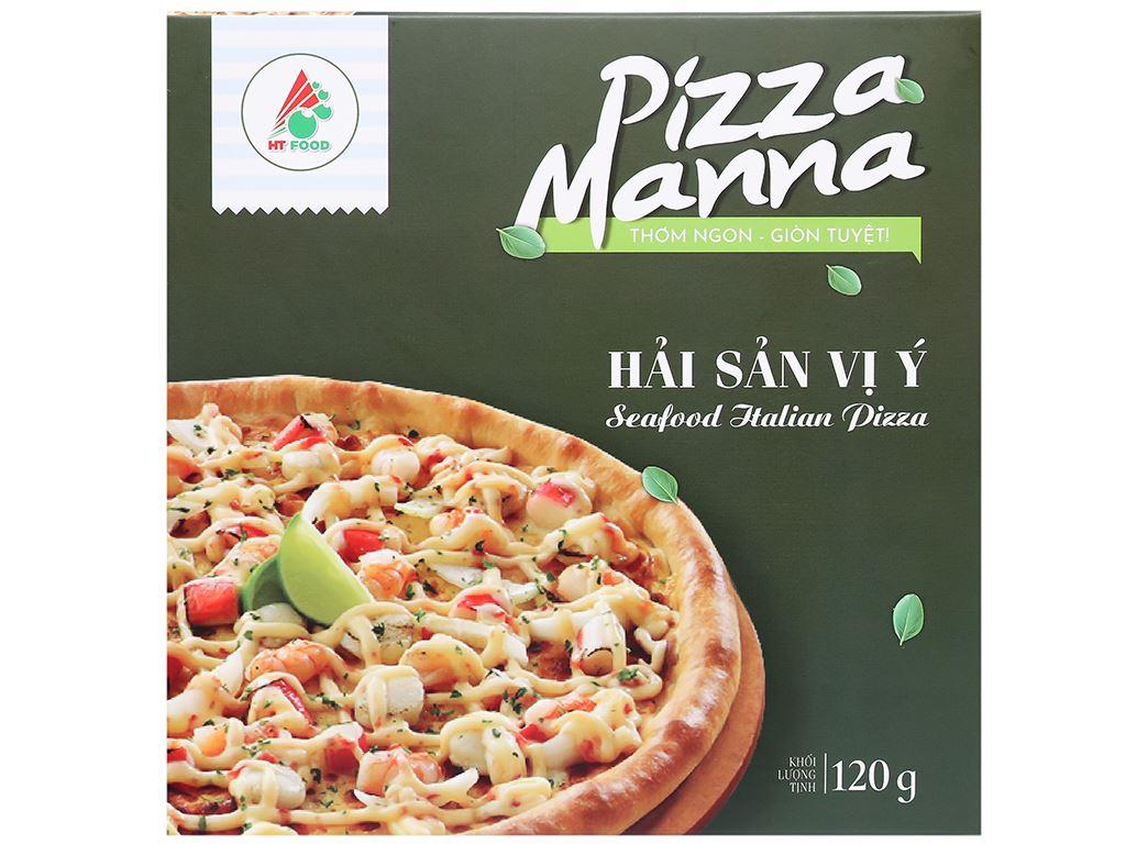 Pizza Manna hải sản vị Ý HT Food 120g 2