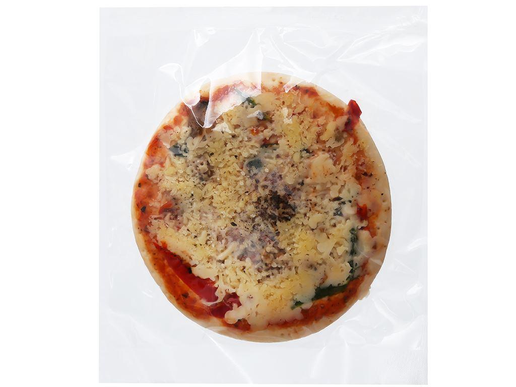 Pizza Manna hải sản vị Ý HT Food 120g 4