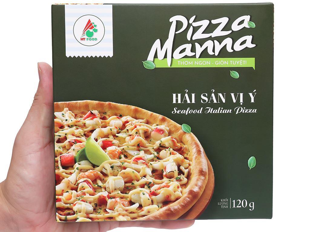 Pizza Manna hải sản vị Ý HT Food 120g 6
