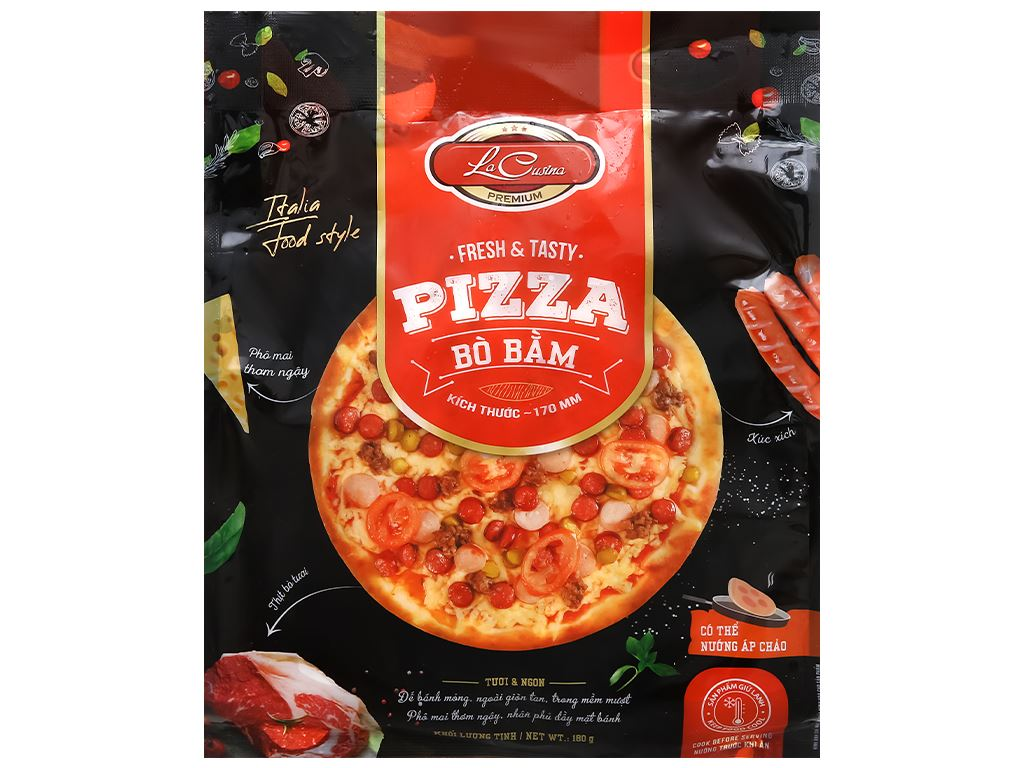 Pizza bò bằm La Cusina 180g 1