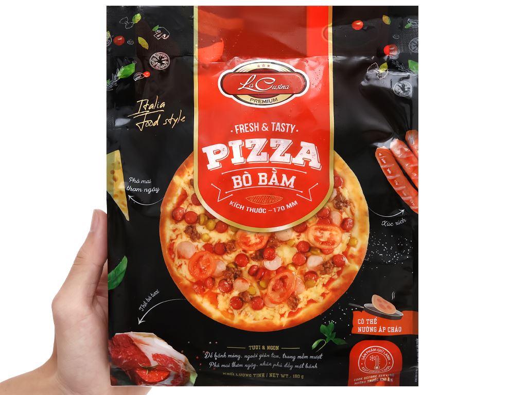 Pizza bò bằm La Cusina 180g 4