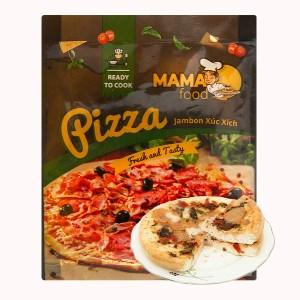 Pizza jambon xúc xích Mama Food 120g
