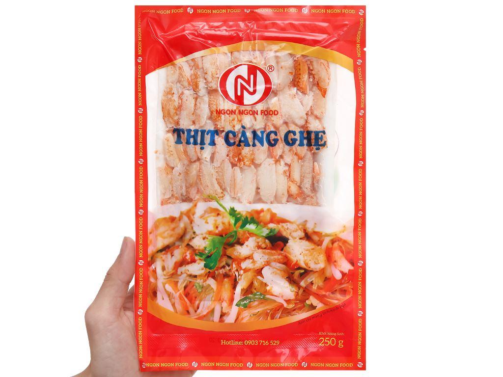 Thịt càng ghẹ đông lạnh Ngon Ngon khay 250g 4