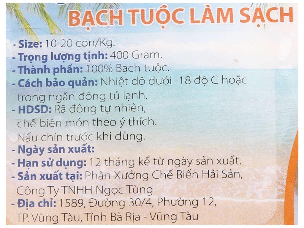 Bạch tuộc làm sạch Nghi Khánh khay 400g 3