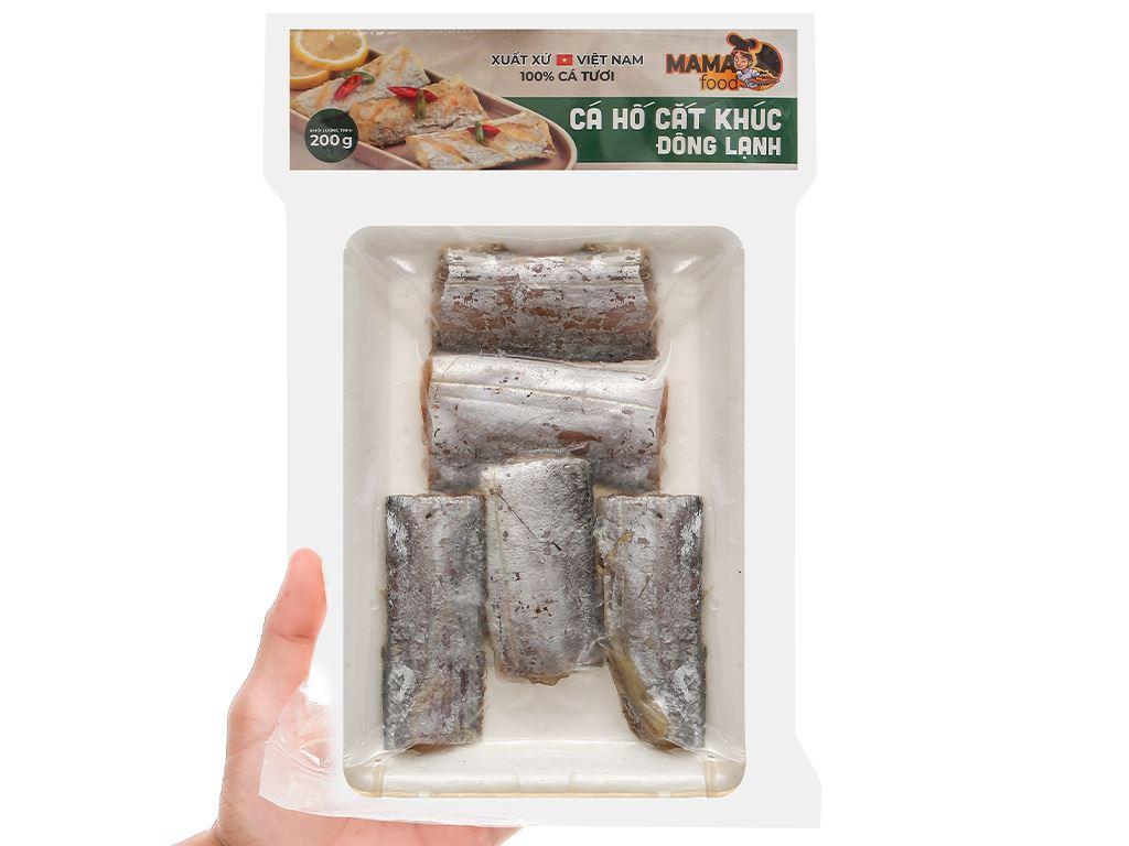 Cá hố cắt khúc đông lạnh Mama Food khay 200g 4