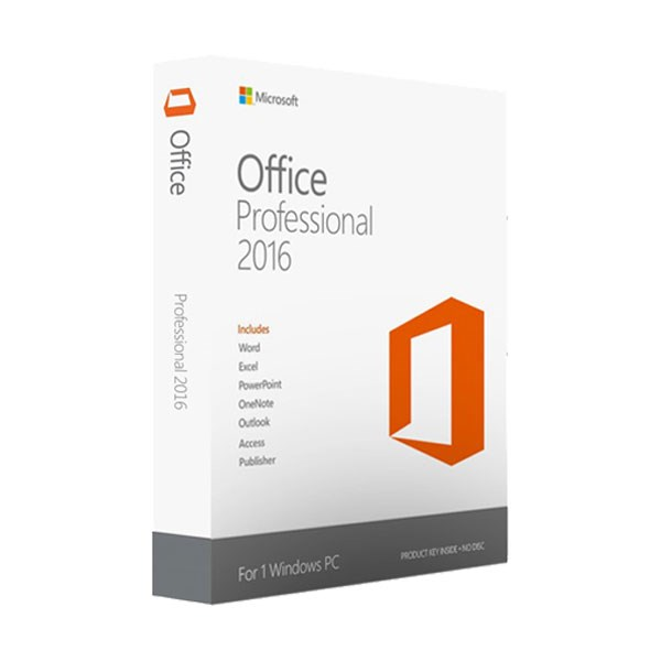 Office Professional 2016 for PC vĩnh viễn 1 máy All languages