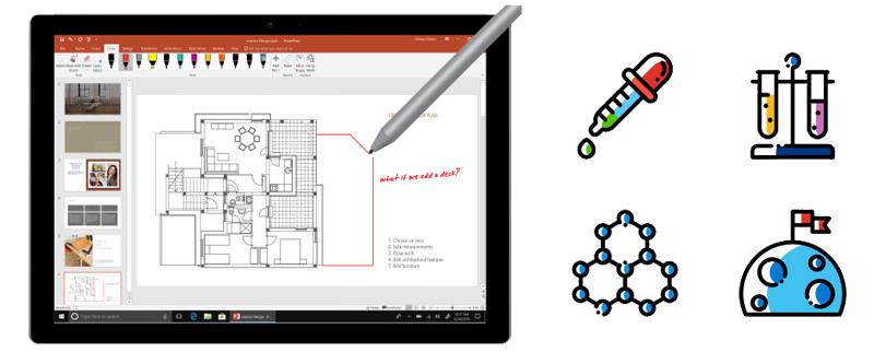 Office Home & Student 2019 - Bút tiện ích kết hợp nhiều icon tiện dụng