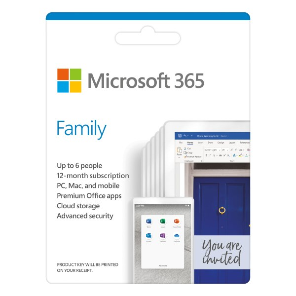 Microsoft 365 Family 32/64bit 1 năm 6 user Win/Mac