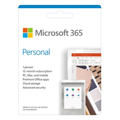 Microsoft 365 Personal 32/64bit 1 năm 1 user Win/Mac
