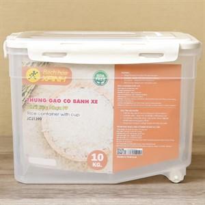 Thùng đựng gạo nhựa có bánh xe BHX JCJ1399 10 kg