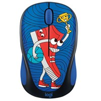 Wireless Mouse Logitech M238 ស្បែកជើងខៀវ