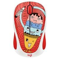 Wireless Mouse Logitech M238 ការ៉េមក្រហម