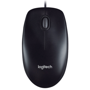 Wired Mouse Logitech M100r ពណ៌ខ្មៅ