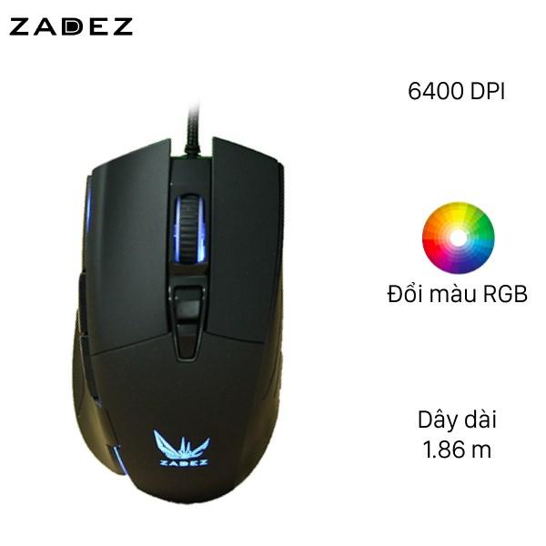 Chuột Gaming Zadez G-152M Đen