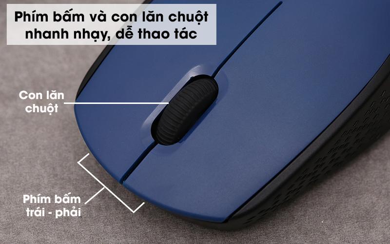 Chuột không dây eValu M806 - Có các phím bấm chắc chắn, con lăn cuộn nhanh nhạy