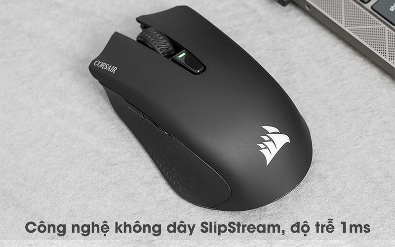 Chuột Bluetooth Gaming Corsair Harpoon RGB Đen - SlipStream