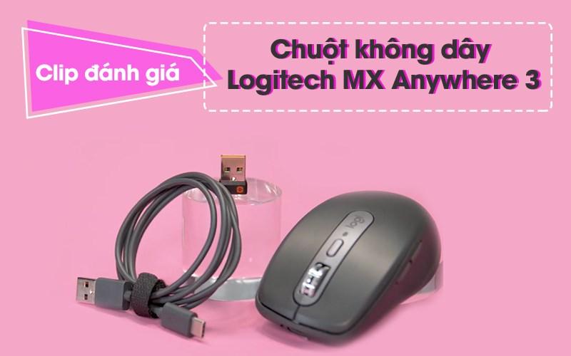 Chuột Không Dây Bluetooth Logitech MX Anywhere 3 Xám