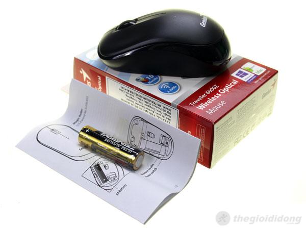 Chuột Genius Traveler 6000Z với màu đen sang trọng