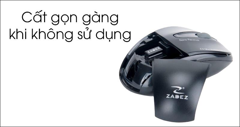 Chuột không dây Zadez M356 - Thiết kế vừa vặn, kiểu dáng đẹp mắt