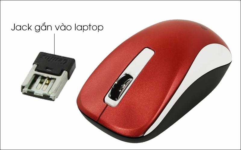 Chuột không dây Genius NX 7010 - Kết nối với máy tính hoặc tivi thông qua cổng gắn USB