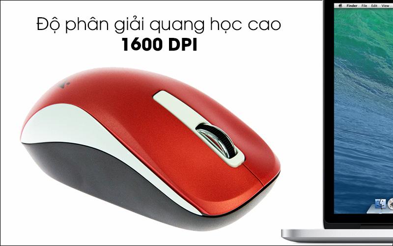 Chuột không dây Genius NX 7010 - 1600 DPI giúp chuột di chuyển mượt mà