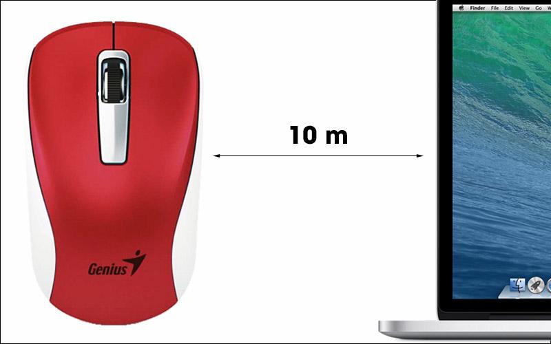 Chuột không dây Genius NX 7010 - Thoải mái di chuyển chuột với khoảng cách xa