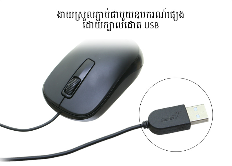 Mouse Genius DX-125 ខ្មៅ