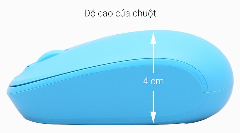 Chuột không dây Microsoft 1850 Xanh Biển - Thiết kế thân thiện với tay cầm người dùng hơn