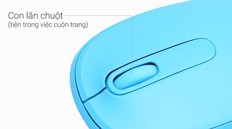 Chuột không dây Microsoft 1850 Xanh Biển - Con lăn chuột tiện ích