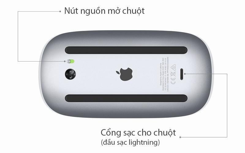 Chuột Bluetooth Apple MLA02 - Sử dụng pin và có kết nối bluetooth