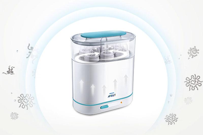 Tiệt trùng an toàn - Máy tiệt trùng bình sữa 3 trong 1 Philips Avent SCF284/02