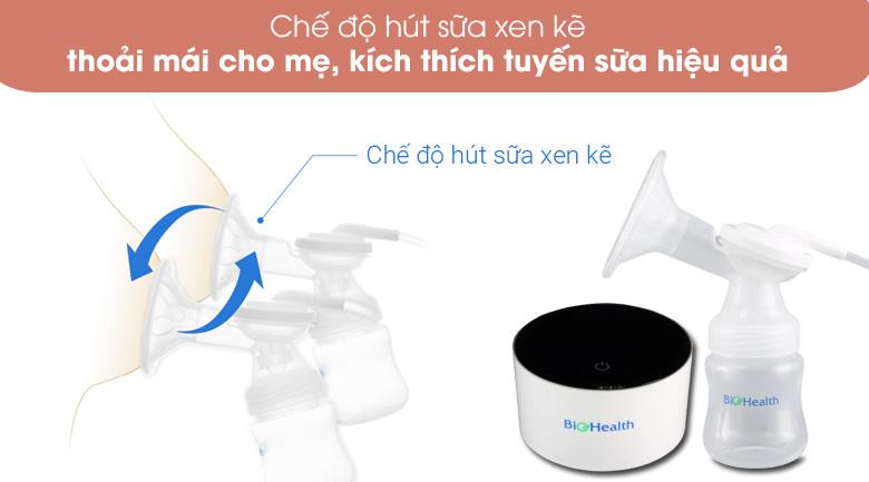 Hút xen kẽ - Máy hút sữa điện đôi BioHealth IE Basic
