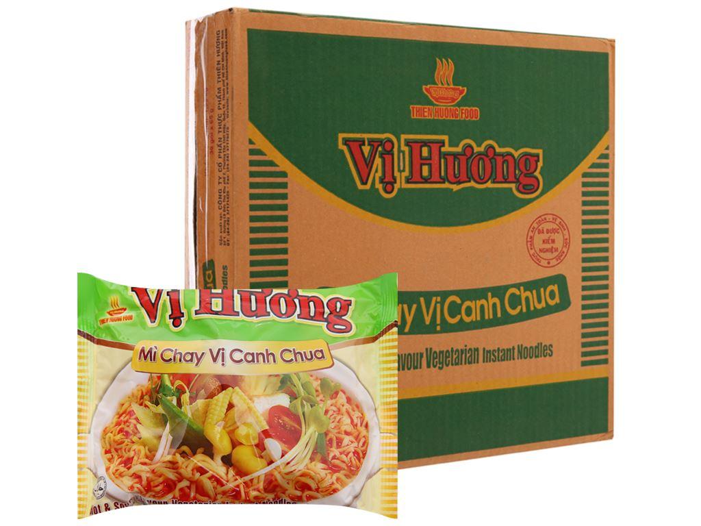 Thùng 30 gói mì chay Vị Hương canh chua 65g 2