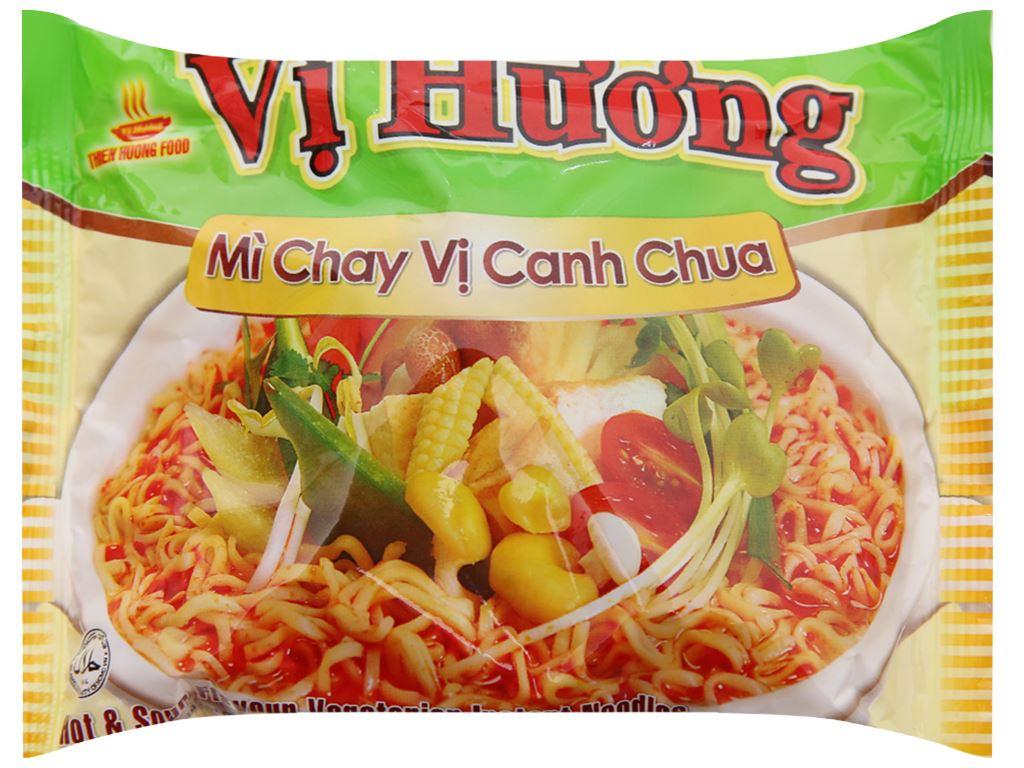 Thùng 30 gói mì chay Vị Hương canh chua 65g 3