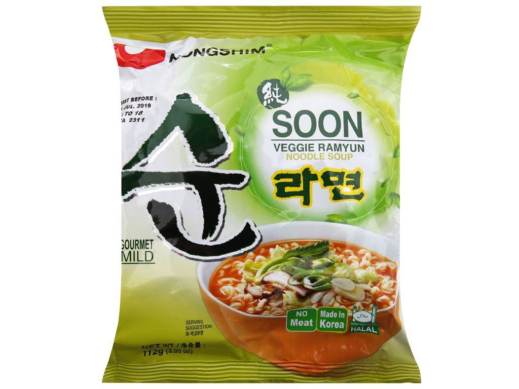 Thùng 40 gói mì chay Nongshim Soon Veggie Ramyun 112g 3
