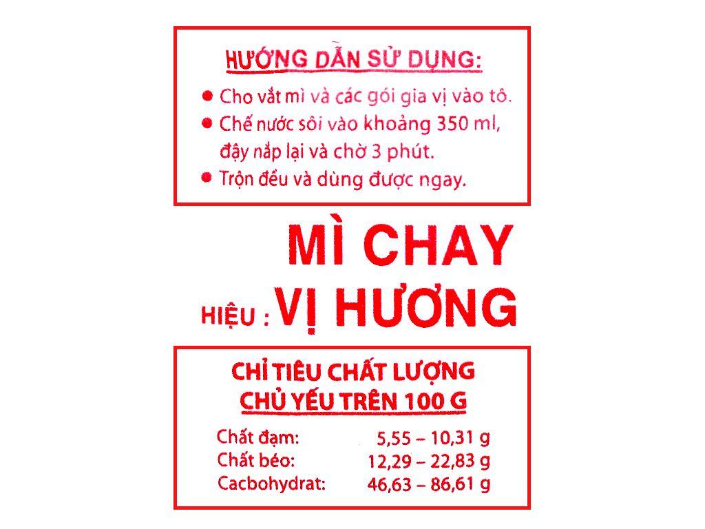 Thùng 30 gói mì chay Vị Hương 65g 4