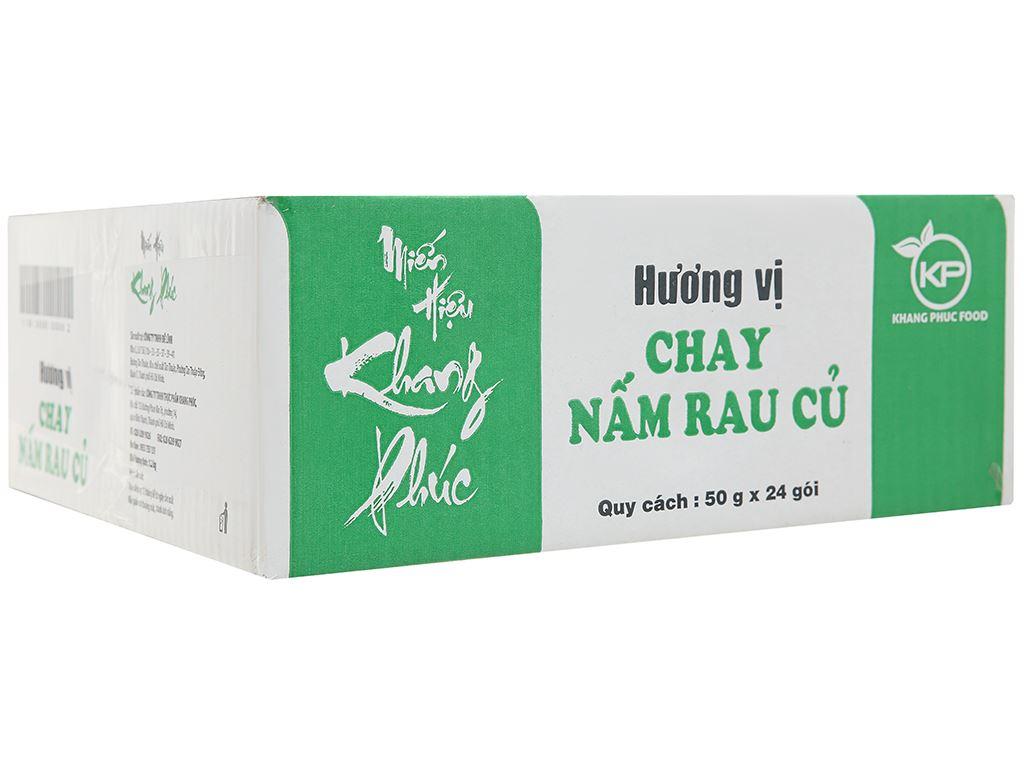 Thùng 24 gói miến chay Khang Phúc rau nấm 50g 1