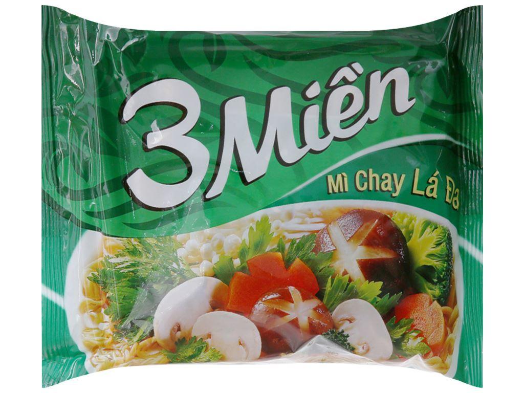 Thùng 30 gói mì chay lá đa 3 Miền 65g 3