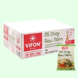 Thùng 30 gói mì chay Vifon rau nấm 65g