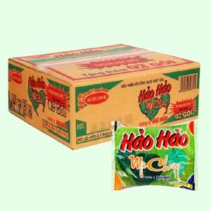Thùng 30 gói mì chay Hảo Hảo rau nấm 74g